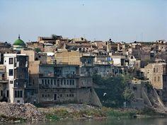 Casas tradicionales en Mosul, en evidente estado de deterioro.