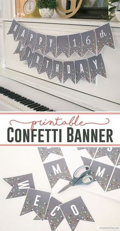 Printable Confetti Banner - perfect for any celebration!