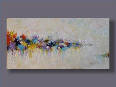 "Nostalgia Original Oil Painting Wall Decor Wall Art Home Decor  Abstract Painting Wall Hanging  Landscape Expressionism Oil 24""x48"""
