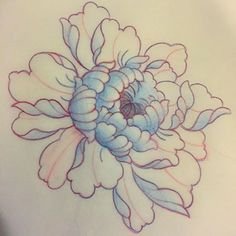 Image result for drawing peony
