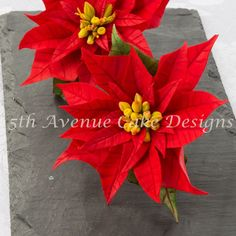 Happy+Holidays+Flower+Paste+Poinsettia+Spray