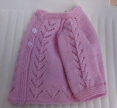 Free Pattern: Pink Knit Baby Cardigan Sweater by Filomena Lanzara