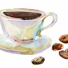 кофе акварель: 23 тыс изображений найдено в Яндекс.Картинках