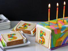 A Neon Tie-Dye Surprise Cake That Will Knock 'Em Dead