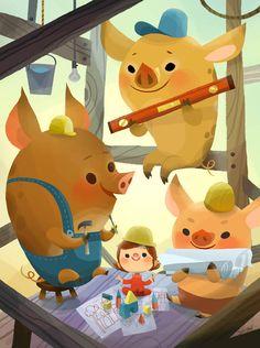 3 Little Pigs Joey Chou | #ContameUnCuento #linduraTotal