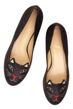 Cat ballet flats