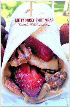 NUTTY HONEY FRUIT WRAP - Best Ever!   Salty, sweet, crunchy deliciousness!  SweetLittleBluebird.com