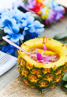 how to cut a pineapple into a cup