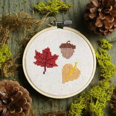 Looking for a simple cross-stitch pattern? These free designs make great decor for all seasons. Make a bunch to swap out in your home, or stitch them as gifts for friends and family during the holidays. Cupcake Cross Stitch, Cactus Cross Stitch, Fall Cross Stitch, Cross Stitch Fabric, Simple Cross Stitch, Cross Stitching, Easy Cross Stitch Patterns, Cross Stitch Designs, Christmas Cross Stitch Patterns