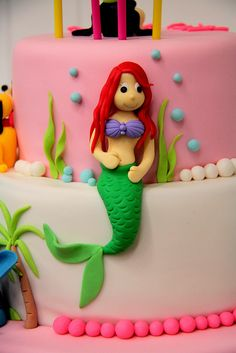 Disney Princess -- Ariel  Birthday Cake