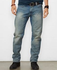 Denim & Supply Ralph Lauren Men's Straight-Leg Jeans  $79.50 These trendy jeans from Denim & Supply Ralph Lauren are crafted from hand-sanded twill and features a comfortable straight-leg silhouette. Subtle whiskers and hand-sanding give the jean a soft feel.