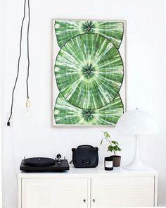 Balanced, Abstract Green Canvas Art