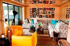 Revamped Makaranga Garden Lodge makes into Visi - hurrah, I love how it's been decorated. Those mustard coloured leather armchairs.