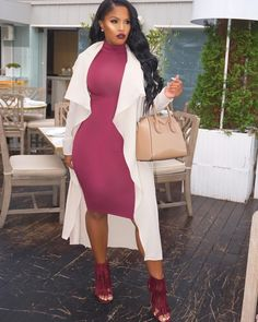 Vampy Lipstick and popping highlights dinner outfit Estilo Fashion, Love Fashion, Plus Size Fashion, Girl Fashion, Autumn Fashion, Fashion Looks, Dope Outfits, Classy Outfits, Chic Outfits