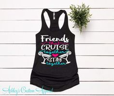 Cruise Shirts Girls Trip Shirts Womens Matching Cruise Shirt Swimsuit CoverUp Don't Drink And Drive Sip and Cruise Ship Faced Cruise Tanks Boat Shirts, Travel Shirts, Custom Clothes, Custom Shirts, Dont Drink And Drive, Drinking Shirts, Summer Tank Tops, Vacation Outfits, Workout Tank Tops