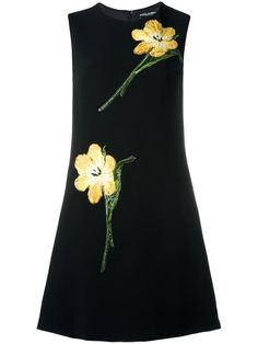 DOLCE & GABBANA embroidered tulip shift dress. #dolcegabbana #cloth #드레스