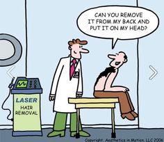 NeoGraft Hair Transplant Joke www.newjers… NeoGraft Hair Transplant Joke www. Surgery Humor, Permanent Laser Hair Removal, Medical Jokes, Hair Transplant Surgery, Hair Restoration, Skin Care Treatments, Plastic Surgery, How To Remove, Lighter