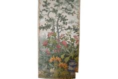 JARDIN CHINOIS studio finds Two strips mounted on canvas, distressed.  $500.00 per panel.Studio Finds | A.L. Diament & Co.