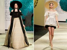 """I like how this blogger describes this collection as envisioning a """"Russian Scarlet O'Hara"""""""