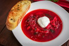 This is a classic Ukrainian Borscht Recipe, just like Mom's. Everyone has fallen in love with this iconic beet soup. We love the deep ruby color of this borsch; Waffle Recipes, Soup Recipes, Cooking Recipes, Veggie Recipes, Ukrainian Recipes, Russian Recipes, Ukrainian Food, Beet Soup, Soup And Salad