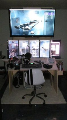 Best Trending Gaming Setup Ideas - Home Decor Ideas Gaming Computer Setup, Gaming Room Setup, Computer Workstation, Computer Rooms, Computer Technology, Office Setup, Pc Setup, Desk Setup, Pc Cases