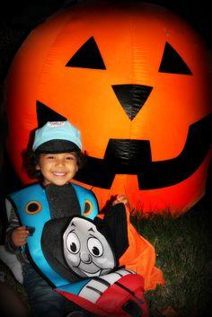 Thomas the Train meets Mr. Pumpkin.