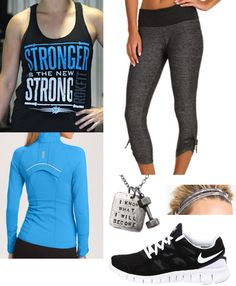 Pin It moving comfort urban gym capri stronger is the new stronger tank nike free zella curve jacket fashletics necklace zella double the fun headband Crossfit Inspiration, Fitness Inspiration, Workout Attire, Workout Wear, Cute Fashion, Fashion Looks, Fashion Fashion, Fashion News, Athletic Outfits