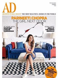 AD Architectural Digest India - May - June 2016 Digital Magazine from Magzter - World's Largest Digital Newsstand Small Space Living, Living Room Modern, Living Spaces, Ad Architectural Digest, India West, House Design Pictures, India Design, Indian Architecture, Parineeti Chopra