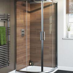 Cooke & Lewis Nadina Quadrant Shower Enclosure, Tray & Waste (W)900mm (D)900mm   Rooms   DIY at B&Q