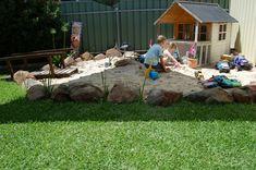 I love the big rocks bordering the sand box :)