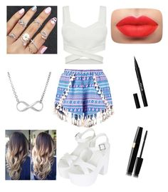 """""""Summer outfit"""" by ashiepashie on Polyvore featuring Boohoo, Topshop and Stila"""