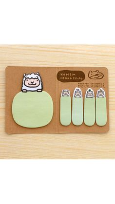 Kawaii sheep sticky notes and memo. This sticky note set will be great for decorative use and craft projects. A must have for Scrapbooking, Collage,