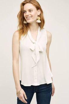 tie neck blouse - Google Search