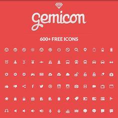Gemicon, 600 iconos gratis para diseño web