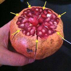 Tutorial che spiega come sbucciare o sgranare velocemente un melograno. Un metodo per farvi impiegare meno di 5 minuti a frutto.