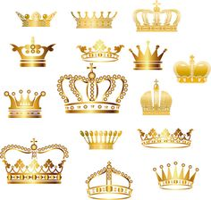 Gold Crown Clip Art | Crown Clipart | Digital Crown PNG | Vector Crown | Instant…
