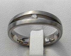Unusual Diamond Titanium Engagement Ring | UK! Titanium Engagement Rings, Engagement Rings Uk, Black Diamond, Diamond Rings, Contemporary Engagement Rings, Jewelry Rings, Rings For Men, Jewelry Making, Silver