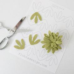 Succulent Tri Petal - Printable PDF Pattern
