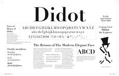 Most influential modern typeface. Set standard for contrast, stress, and geometric structure.