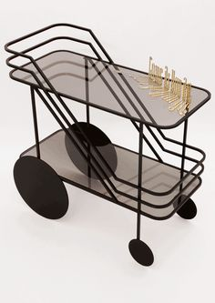 Come As Your Are Cart By Christophe De La Fontaine Serving TrolleyLiving Room BarApp