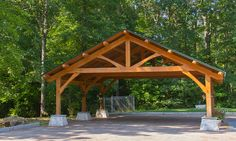 Wooden Carport Structures | Classic King Post Carport | Dreaming Creek | Authentic Architectural ...