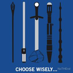 ok i pick light saber because in order to use the wand or the staff you have to magic and we are all muggle in this world  and only Arthur can pull the sword from the stone and by the time to find the right setting on the screwdriver  your in four pieces and i win !!
