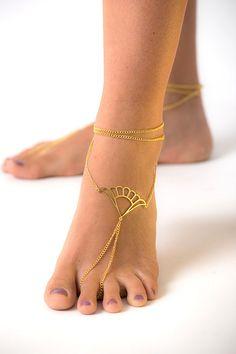 Barefoot Sandals Gold Anklet Bracelet Wedding Foot Jewelry Anklet