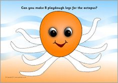 A set of printable playdough mats linked to the ocean. Children can make playdough starfish, bubbles, legs for the octopus, teeth for the shark and more!