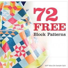 72 Free Block patterns for your GO! machine.