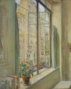 The studio window by Clara Louise Bell