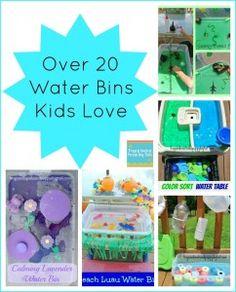 Over 20 Water Bin Play Activities For Kids