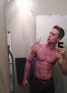 Ryan Kelley aka….Deputy Cutie Pie w/ a bird @sahmtojandk