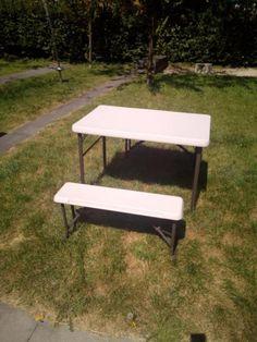 Aluminium Campingtisch Klapptisch Koffertisch Falttisch Gartentisch Klappbar Mit 2 Sitzbanken Camping Tisch Klapptisch Campingtisch