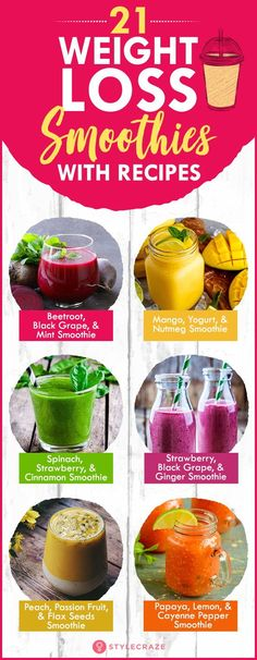 21 weight loss smoothies with recipes. These 21 quick and healthy smoothie … – detox smoothie recipes Weight Loss Meals, Fast Weight Loss Tips, Weight Loss Drinks, Weight Loss Smoothies, Healthy Smoothies, Healthy Drinks, Stay Healthy, Healthy Food, Healthy Detox